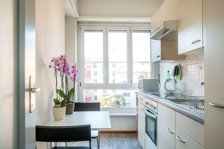 Very central apartment in Lugano 5 min to the lake