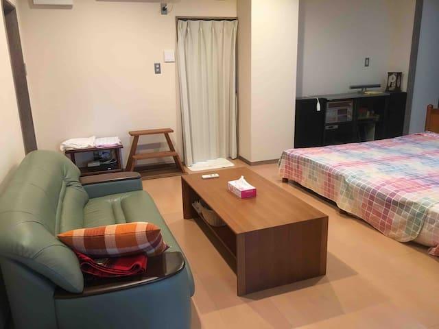 清潔で広々としたプライベートルーム