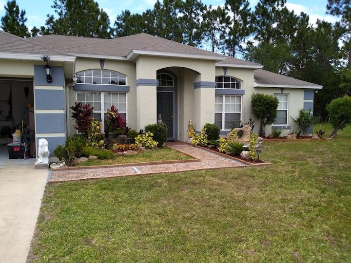 Florida's nature with  landscape  patio pergola