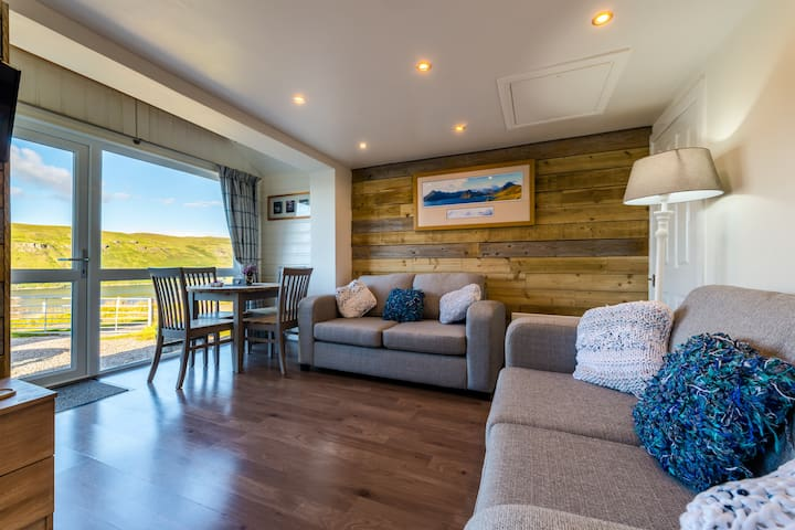 Modern and comfortable living area, with spectacular views