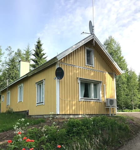 Log house with own forest, sandy beach 400 meters