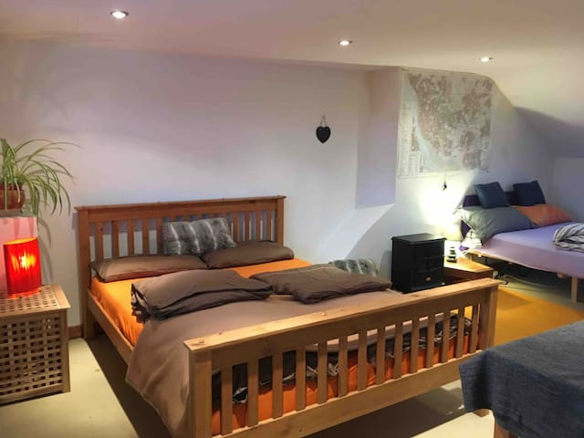 Large bright attic room with bathroom-Sefton Park