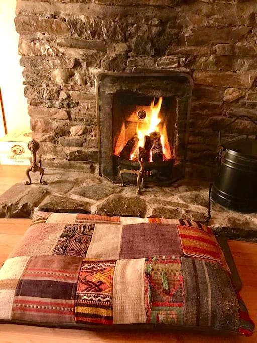 Relax in front of the open fire place and enjoy the cottage after a day exploring Connemara.