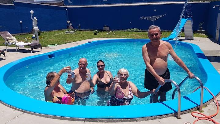 Casa Resort com 2 piscinas para 8 pessoas Centro