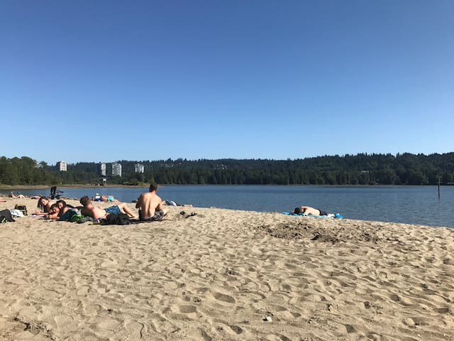 Sun beach is only 350 meters away