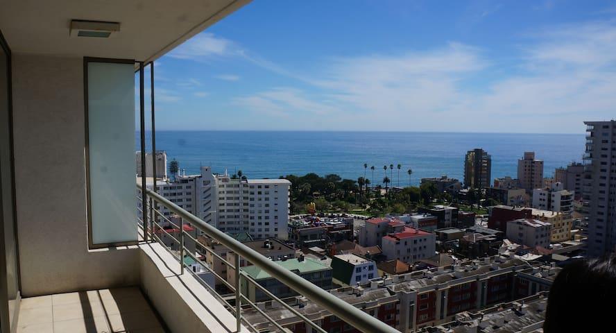 Departamento  Viña del Mar hermosa vista