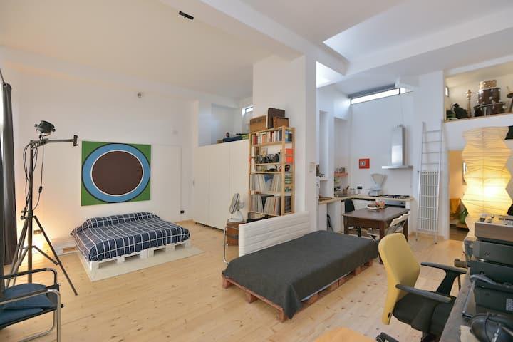 Artist's studio/loft in Pigneto