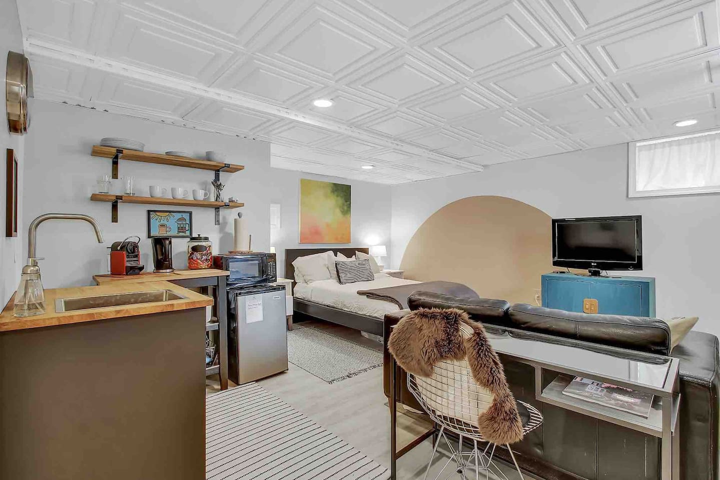 A clean, modern, stylish studio in the heart of DC. The art work is my own  and occasionally changes.