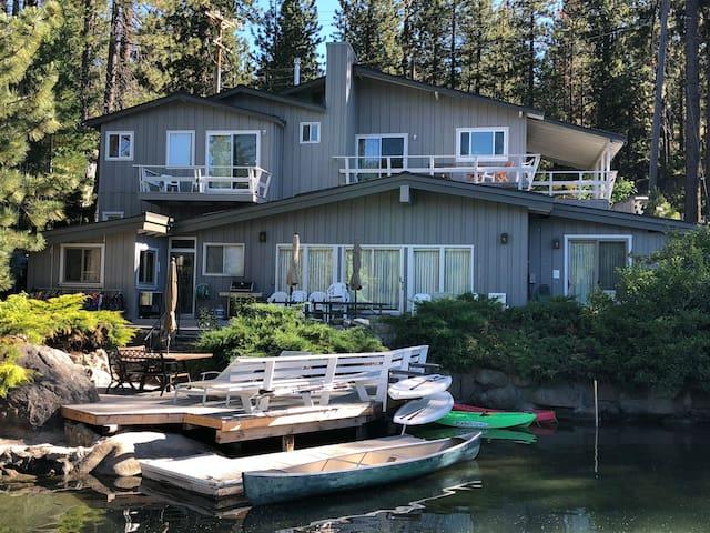 Breakfast deck and canoe dock