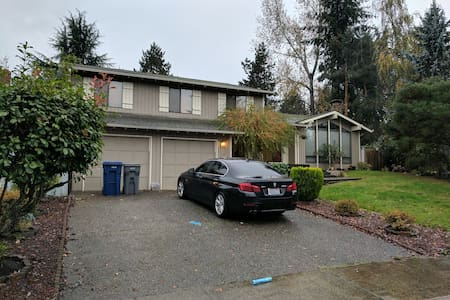 Private Entrance, Living Area and Room. - Issaquah