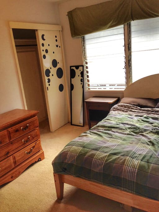 Room with dresser and nightstand