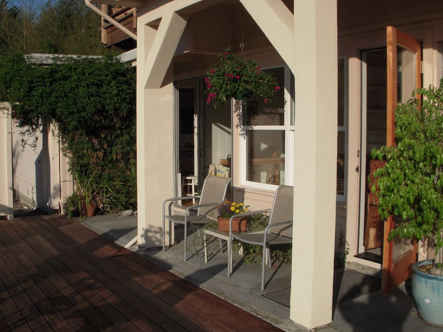 Enjoy the sun or shade; indoor/outdoor living.