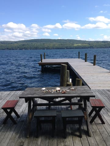 FLX 1950 Cottage with Private Beach & 80' Dock - Watkins Glen - House
