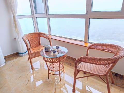 超级海景房 下楼就是海边 3卧室超大 钓鱼游玩都方便 一家人好开心呀