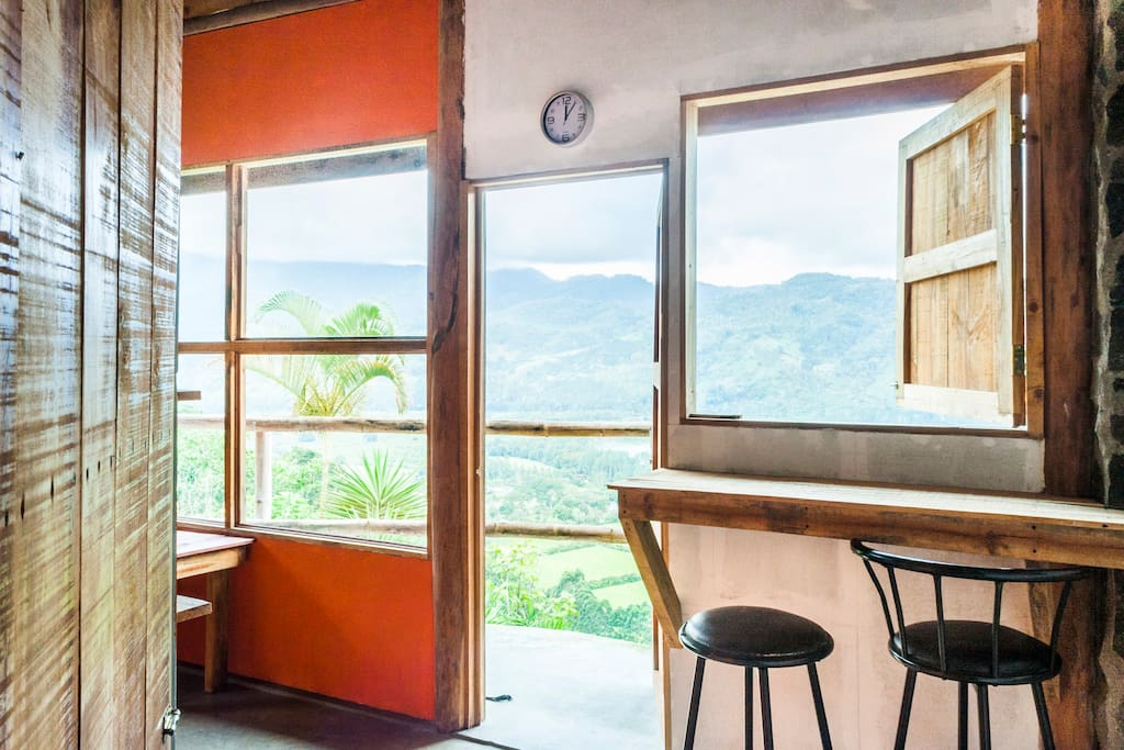 room as great views of our private reserve and the Cachi lake!