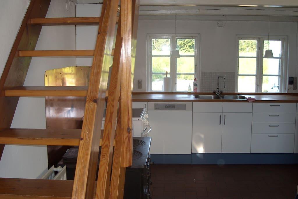 Rustikt og hyggeligt køkken