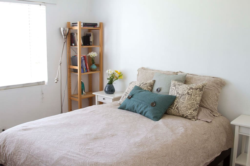 The second bedroom exudes comfort.