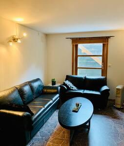 Stor luftig leilighet sentralt på Stangeland.