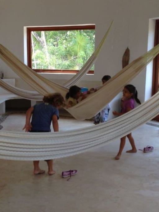Hammocks to rest or swing away