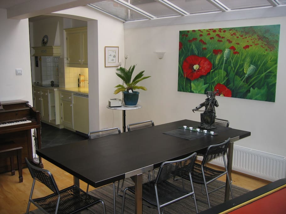 Dining area in conservatory