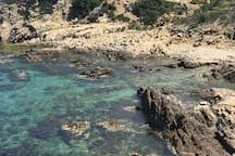 Peaceful Seaside Studio with Private Swimming Area