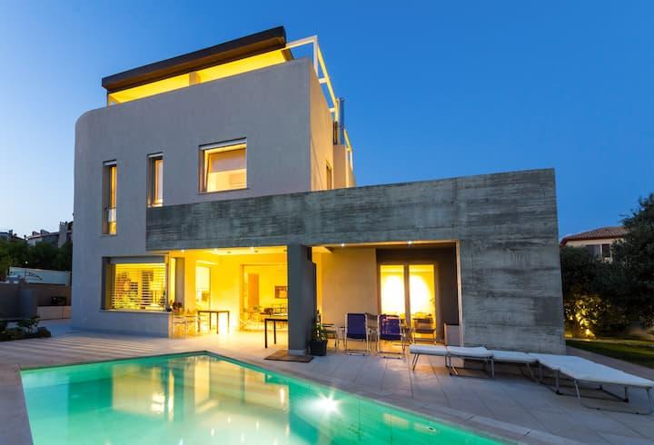 Suite sea view in villa Sardinia