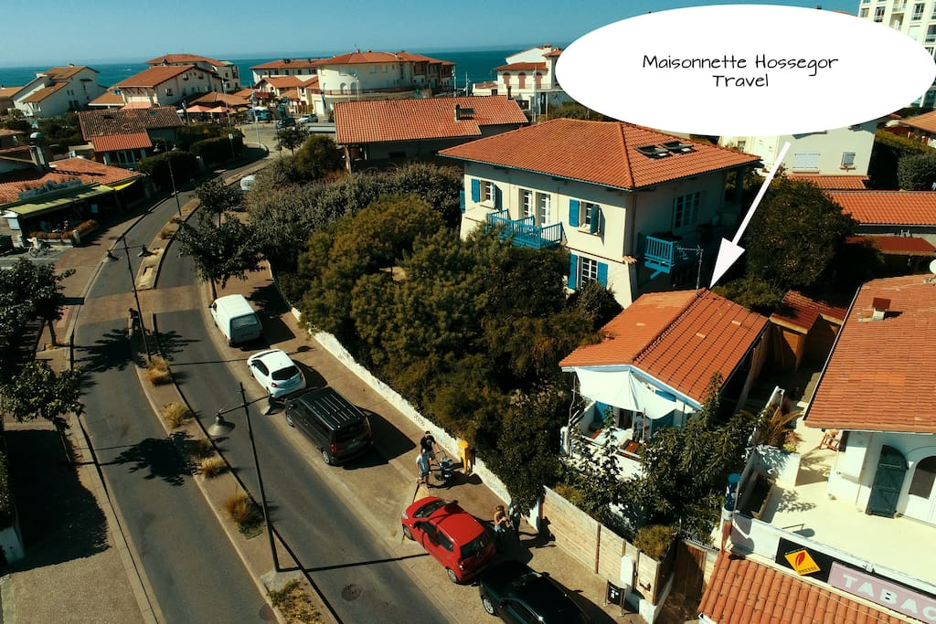 villa sea and surf vue aérienne