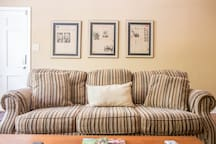 Comfy couch in living room; watch tv and relax