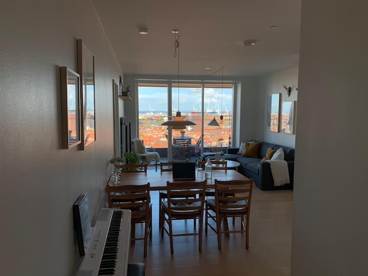 12th floor with Aarhus City and ocean view
