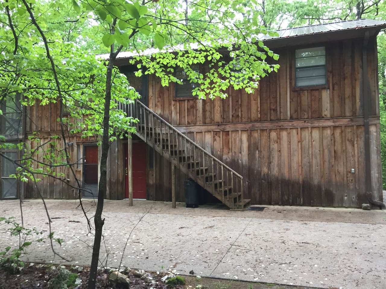 Outside of the cabin