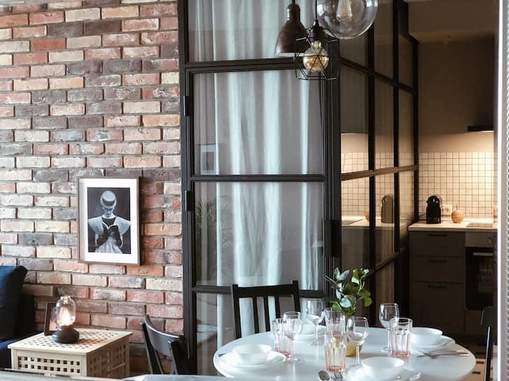 «Paris - New York» Дизайнерская уютная квартира