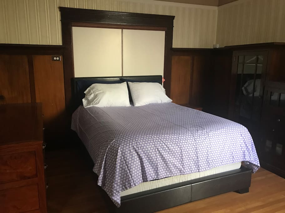King size bed in private room