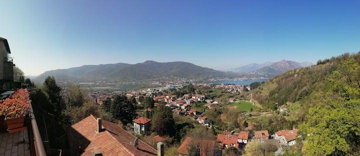 Panoramic terrace overlooking the lake