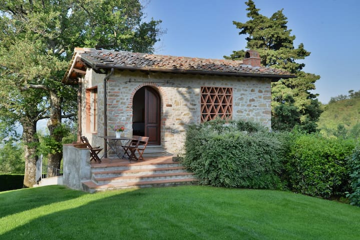 Old hayloft on the Chianti hills