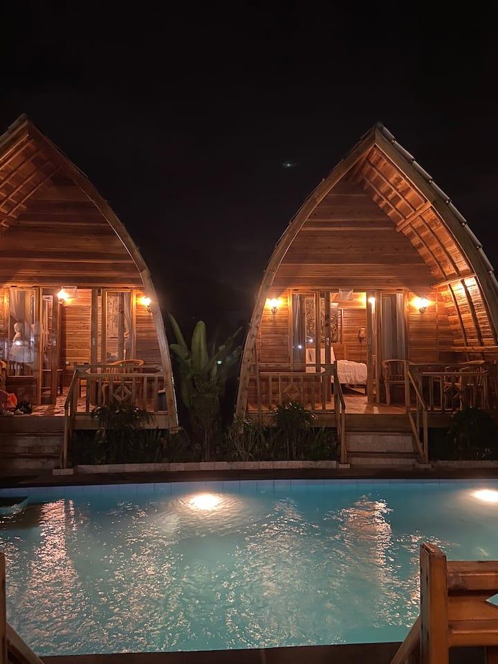 """Dahayu Inn Canggu """"wooden house"""""""