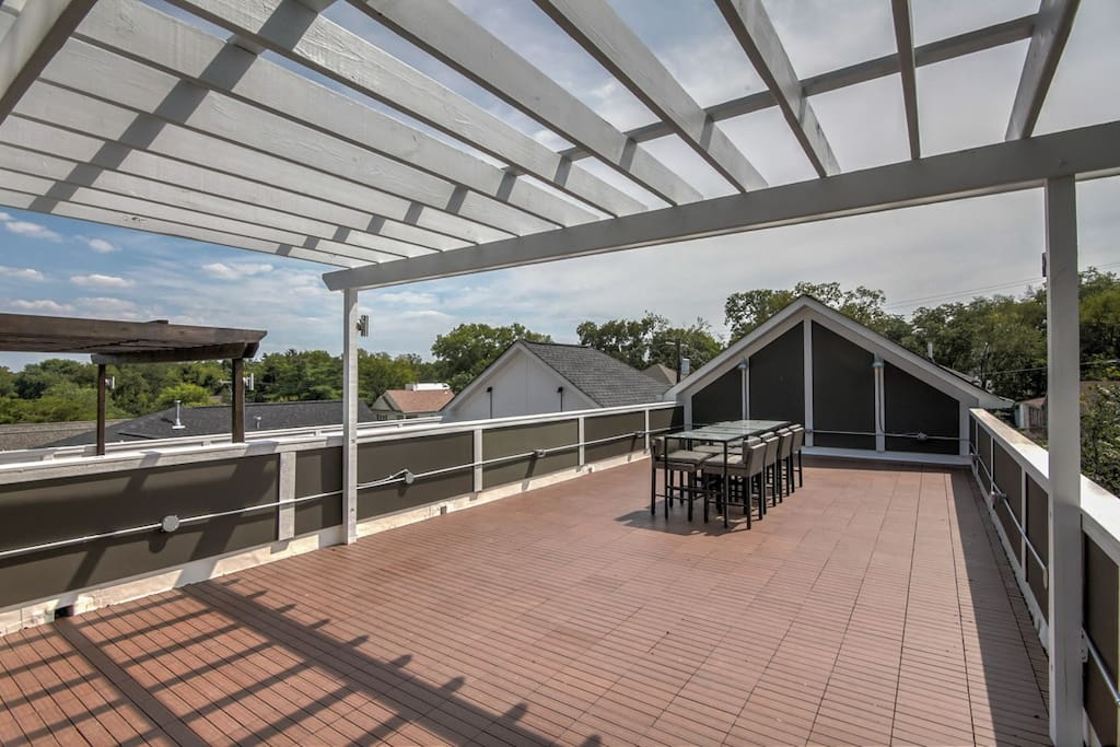Welcome to your private roof deck!
