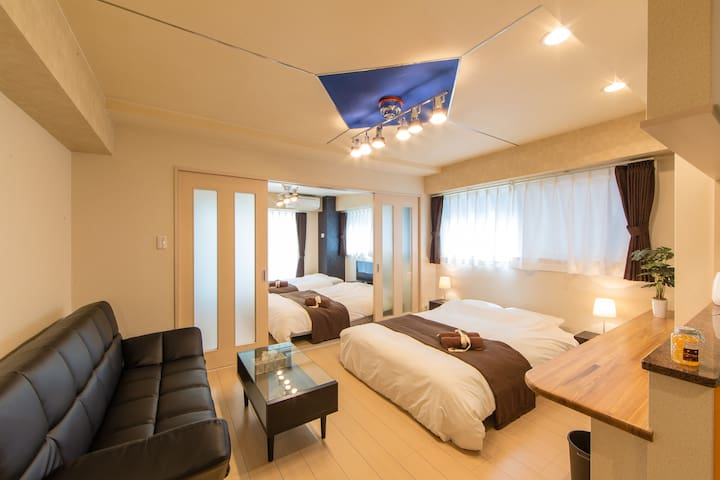 Osaka Castle&Shinsaibashi 歩行可 8名宿泊可【Free Wi-Fi】202 - Ōsaka-shi - Apartemen