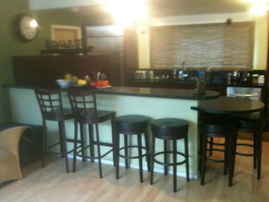 here is the breakfast bar