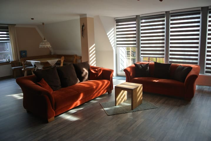 Cozy spacious apartment with fireplace for7 people - Wurster Nordseeküste - Daire