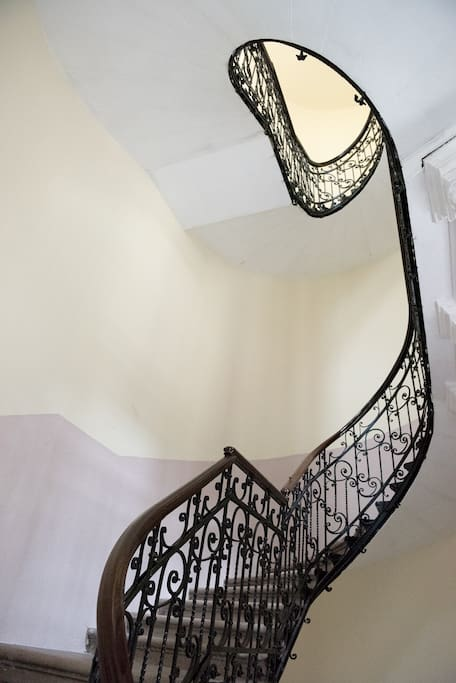 Historical building with beautiful staircase