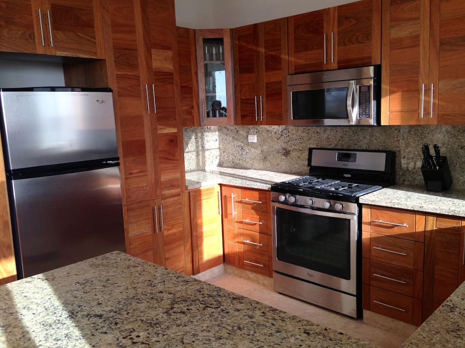 Custom Kitchen with all appliances and housewares.