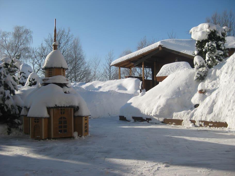 Winter auf unserer Terrasse