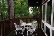 Quaint outdoor dining set on your personal deck