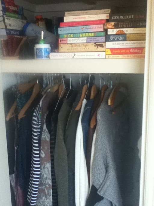 Closet space, will be completely empty when you arrive!