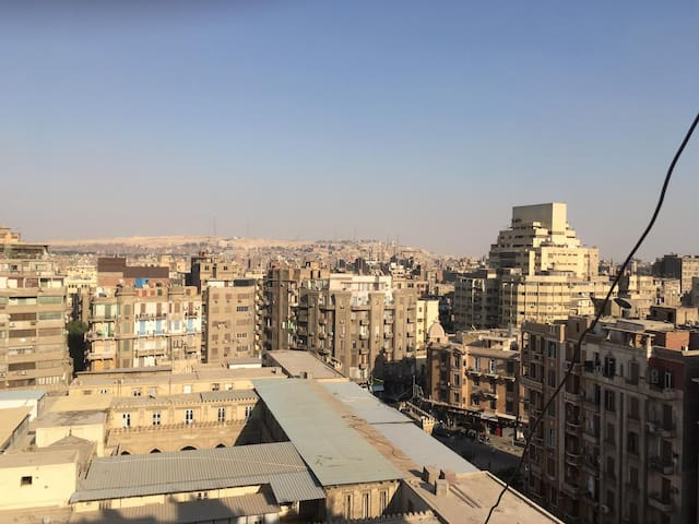 Downtown over the roofs of Cairo