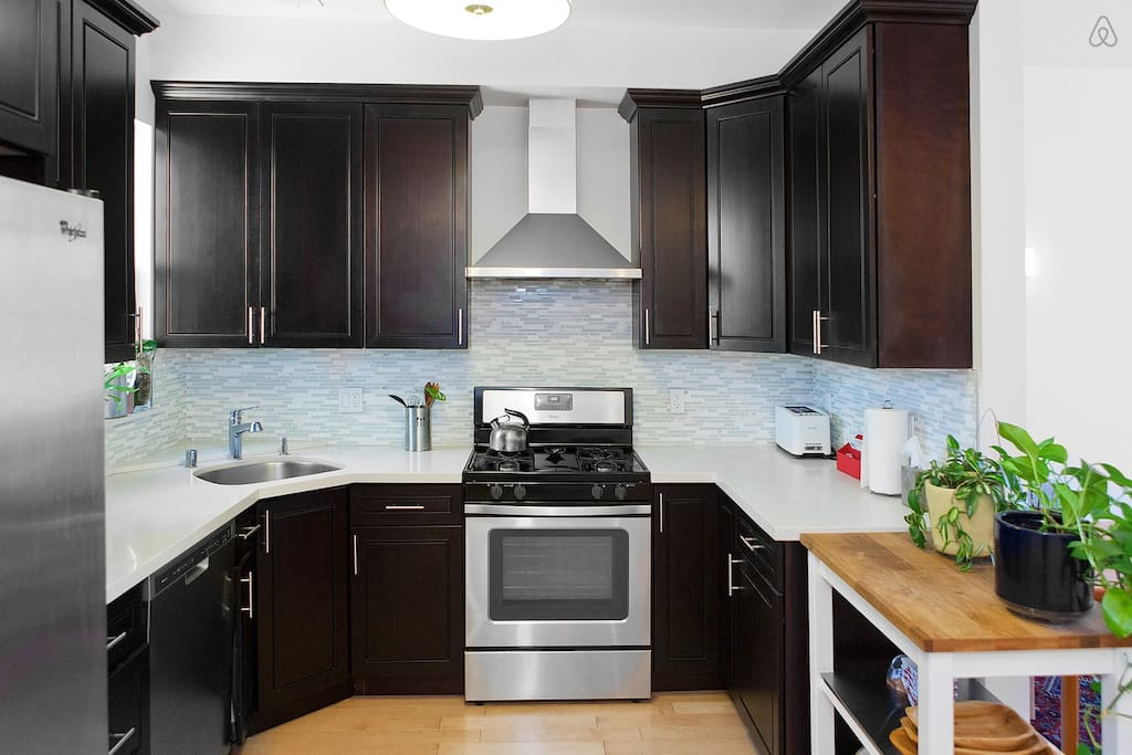Kitchen featuring brand new appliances including gas range / stove