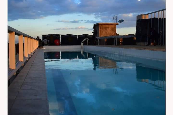 Studio Kiambu Road, great view, swimming pool,lift