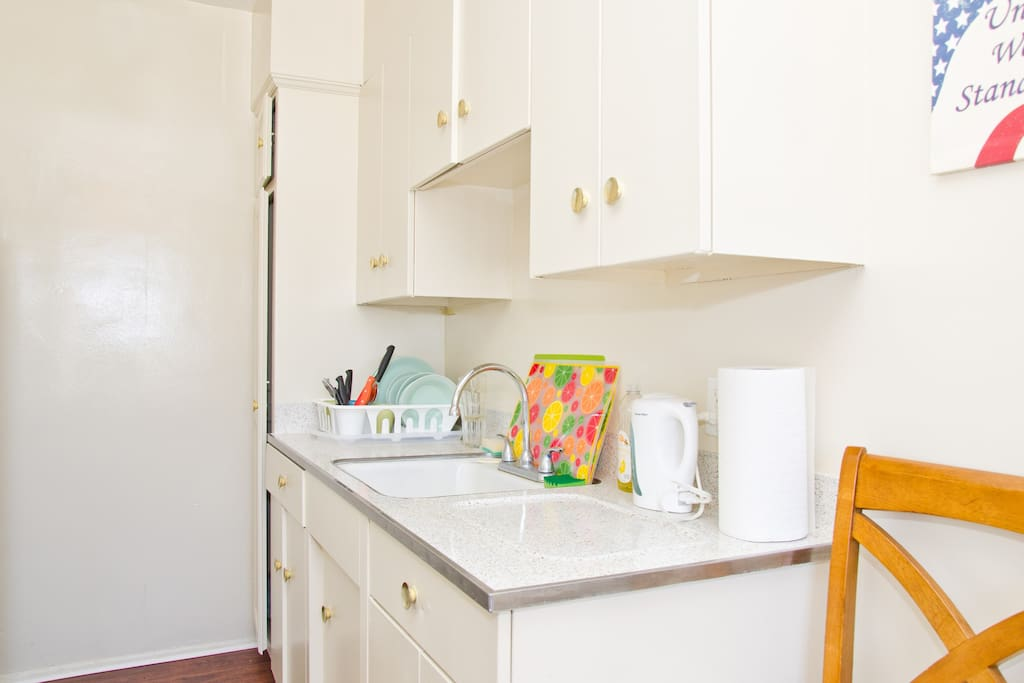 You rent this private kitchen