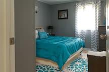 Bedroom 2 features a full sized memory foam mattress.