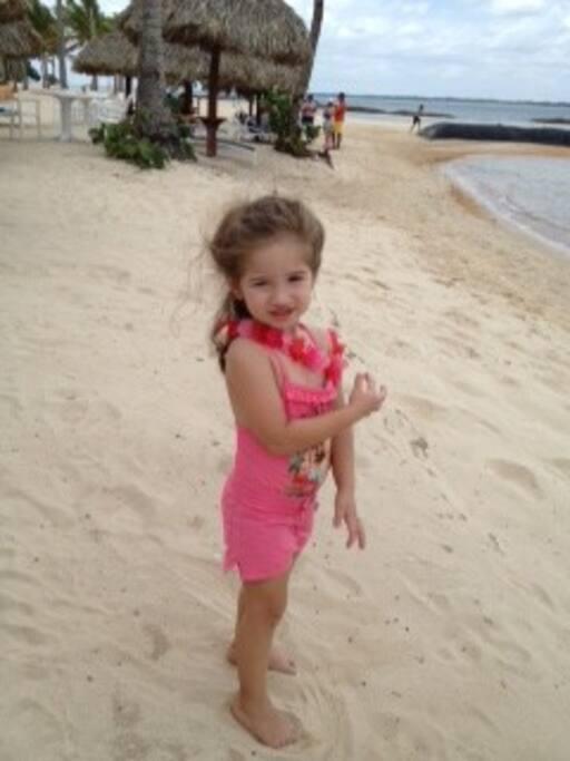 Kids enjoying at the Beach